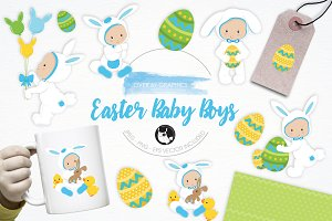 Easter Baby Boys illustration pack