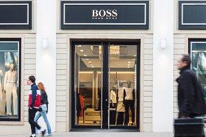 Hugo Boss fashion house entrance