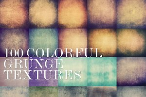 75%OFF! 100 Colorful Grunge Textures
