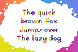 Overlapping Colorful Font