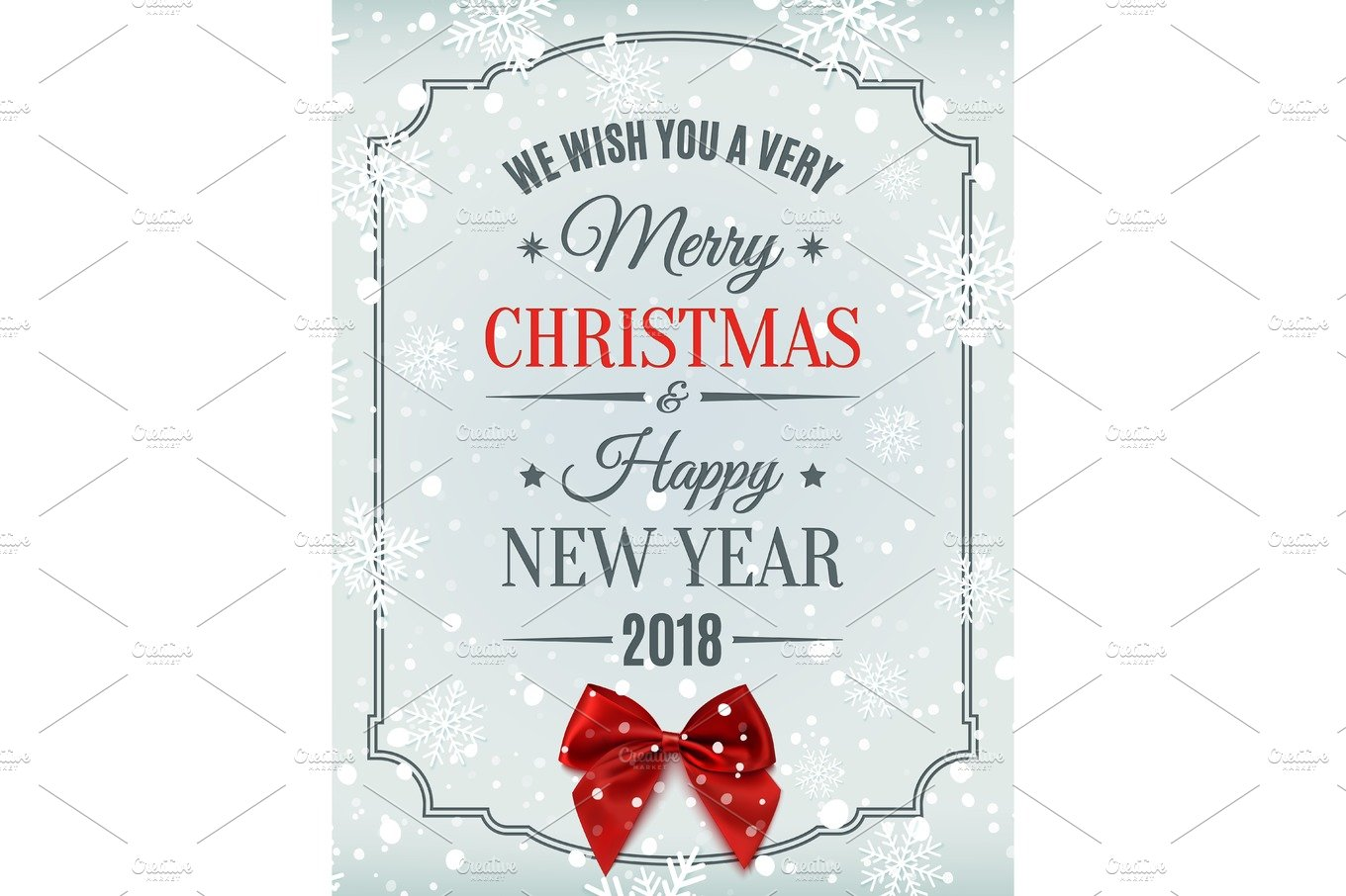 Merry Christmas and Happy New Year 2018 card. ~ Graphic Objects ...