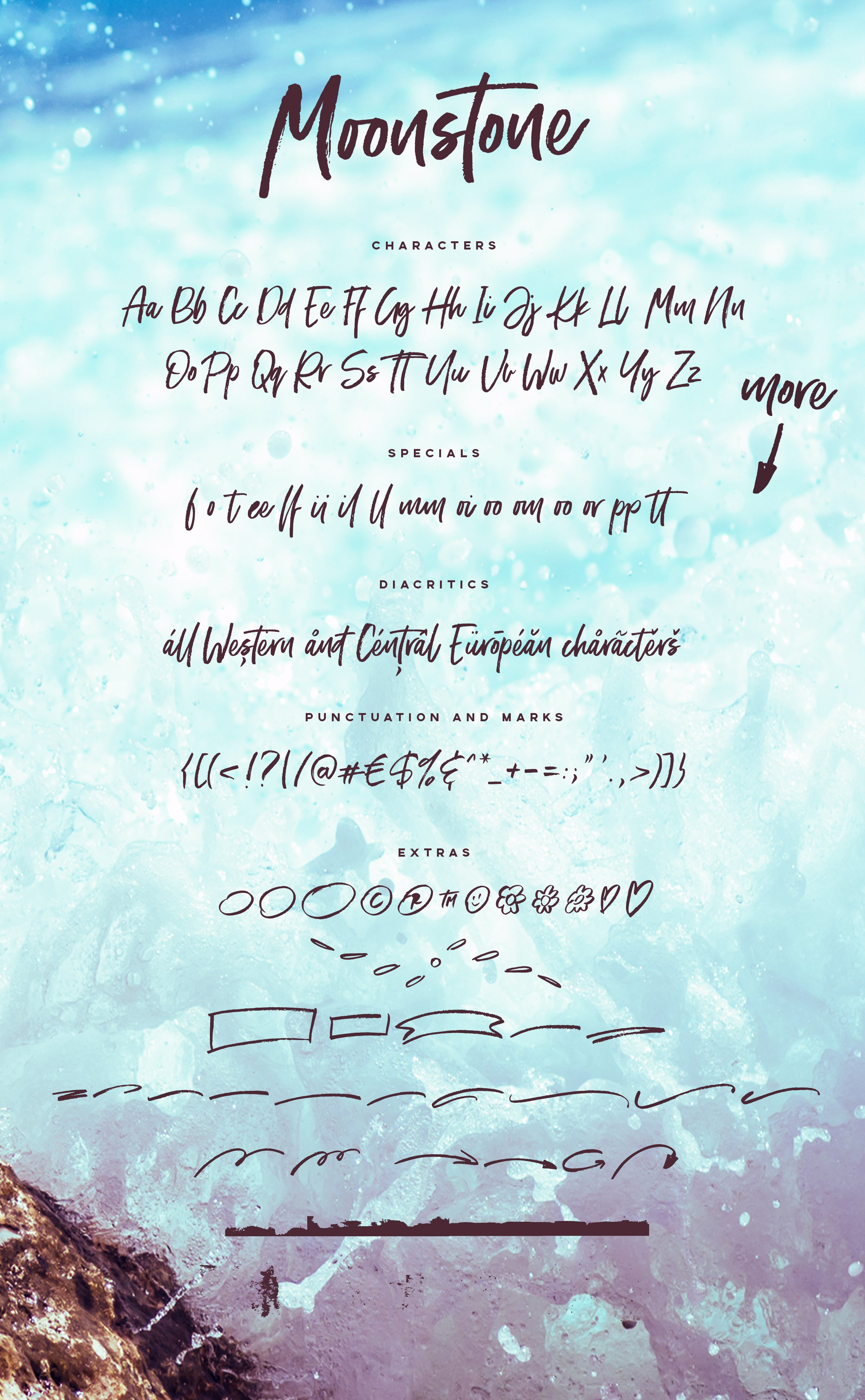 Moonstone Brush Font Script Fonts Creative Market Pro