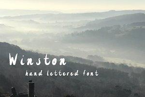 Winston - hand lettered font
