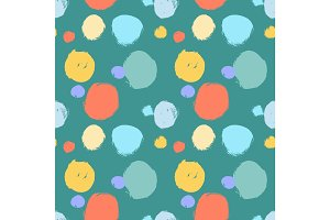 Seamless colorful pattern with abstract circles