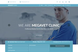 Pets Veterinary Clinic One Page Muse