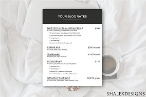 Blog Rates PSD Template