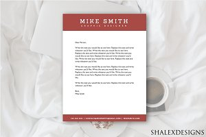 Red Business Letterhead Template