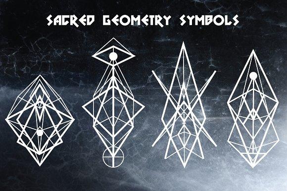 Sacred Geometry Symbols Elements