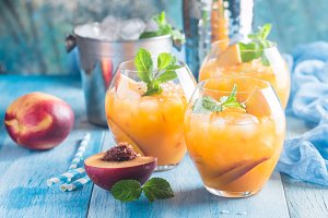 Peach cocktail or tea