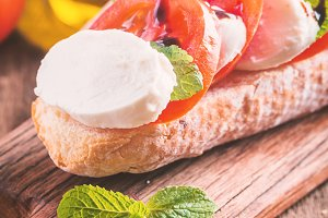Caprese sandwiches with pesto