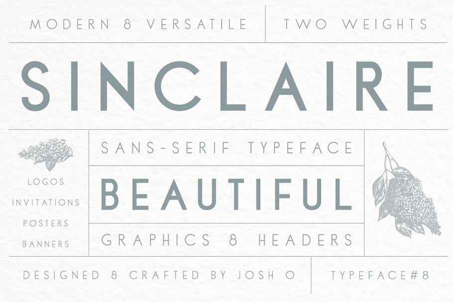 Sinclaire | A Classic Sans Serif ~ Sans Serif Fonts