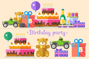 Birthday Party Illustrations