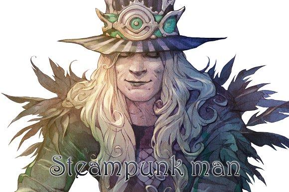 Eccentric Steampunk Character
