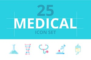 25 Medical icon set