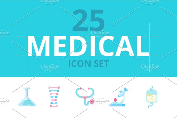 25 Medical Icon Set