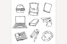 School Hand Drawn Vector Objects