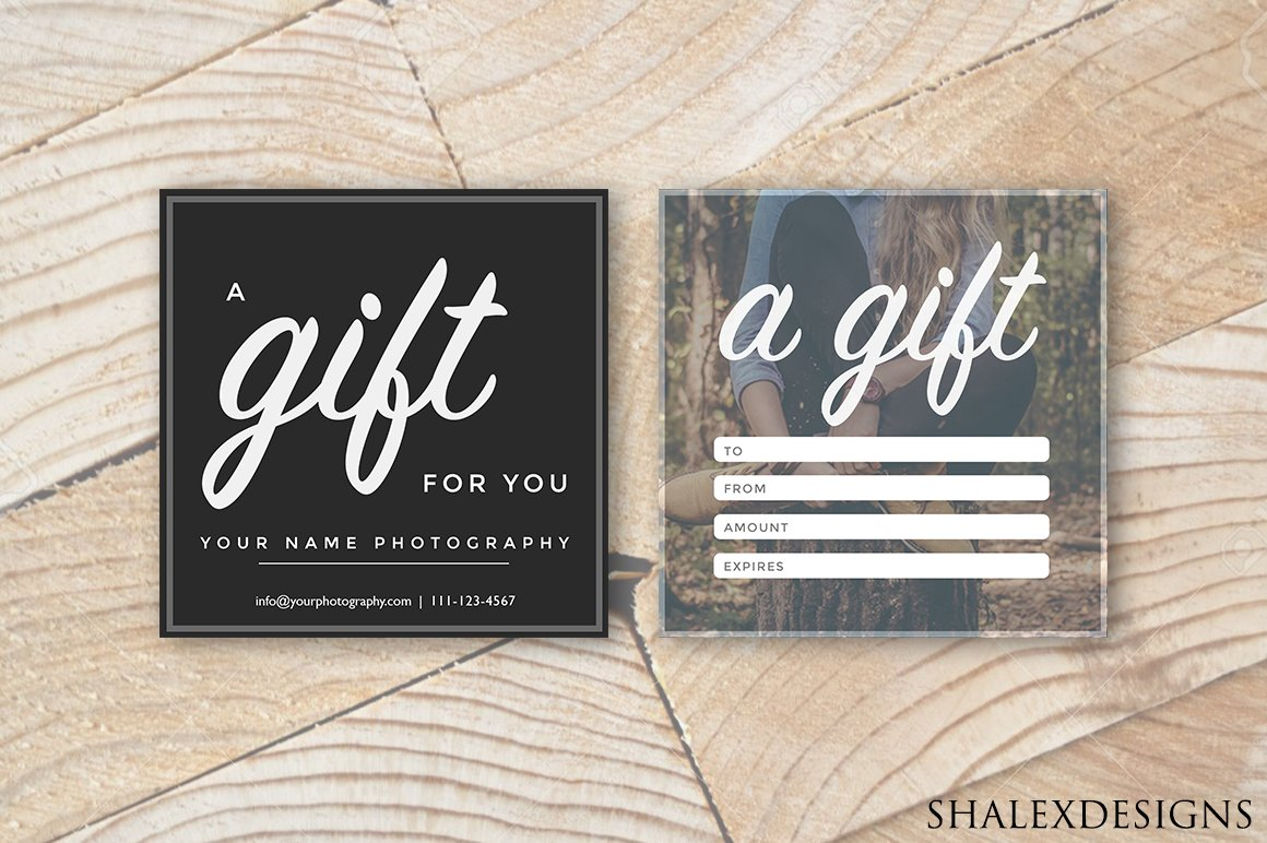 Photographer gift certificate psd card templates creative market square gift certificate template yelopaper Choice Image