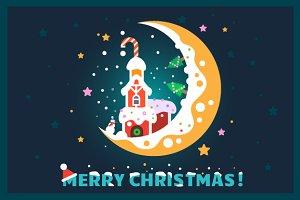 Flat Christmas Postcard