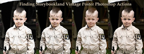 Vintage Poster Photoshop Actions