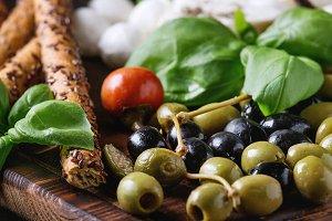 Mediterranean appetizer plate