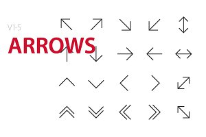 100 Arrows UI icons