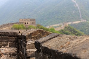 Parapet of the Great Wall of China