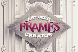 ArtDeco 3D Frames