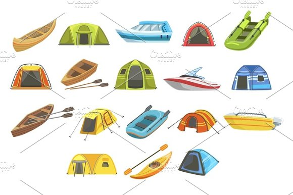 Colorful Tarpaulin Tents Set