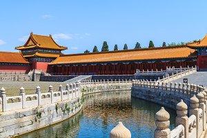 Bridge on Golden River in the Forbidden City