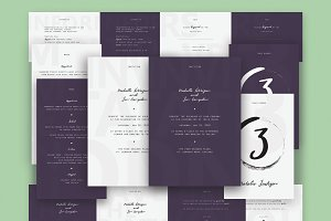 Wedding Invitation Suite (Purple)