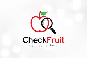 Check Fruit Logo Template Design