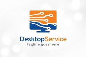 Desktop Service Logo Template