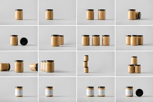 Nut Butter Jar Mock-Up Photo Bundle