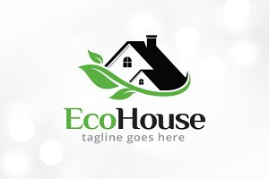 Eco House Logo Template Design