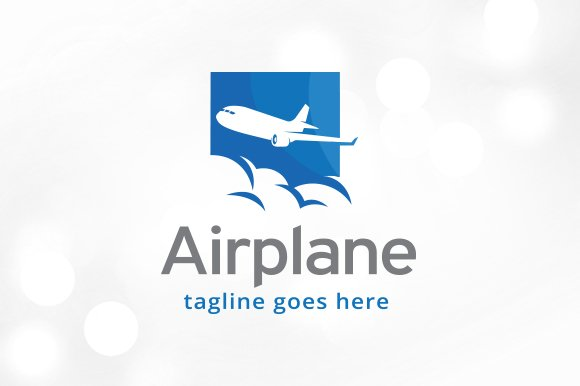 Airplane Logo Template Design