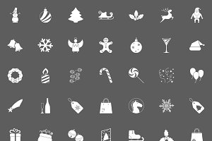 Christmas white Icons For Web.