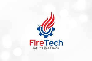 Fire Technology Logo Template