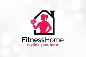 Fitness Home Logo Template Design