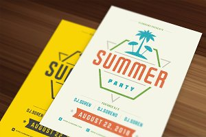 3 Summer party flyers templates