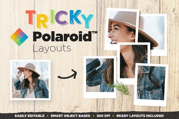 Tricky Polaroid Layouts Mockups