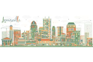 Abstract Louisville Skyline