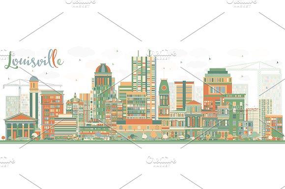 Abstract Louisville Skyline