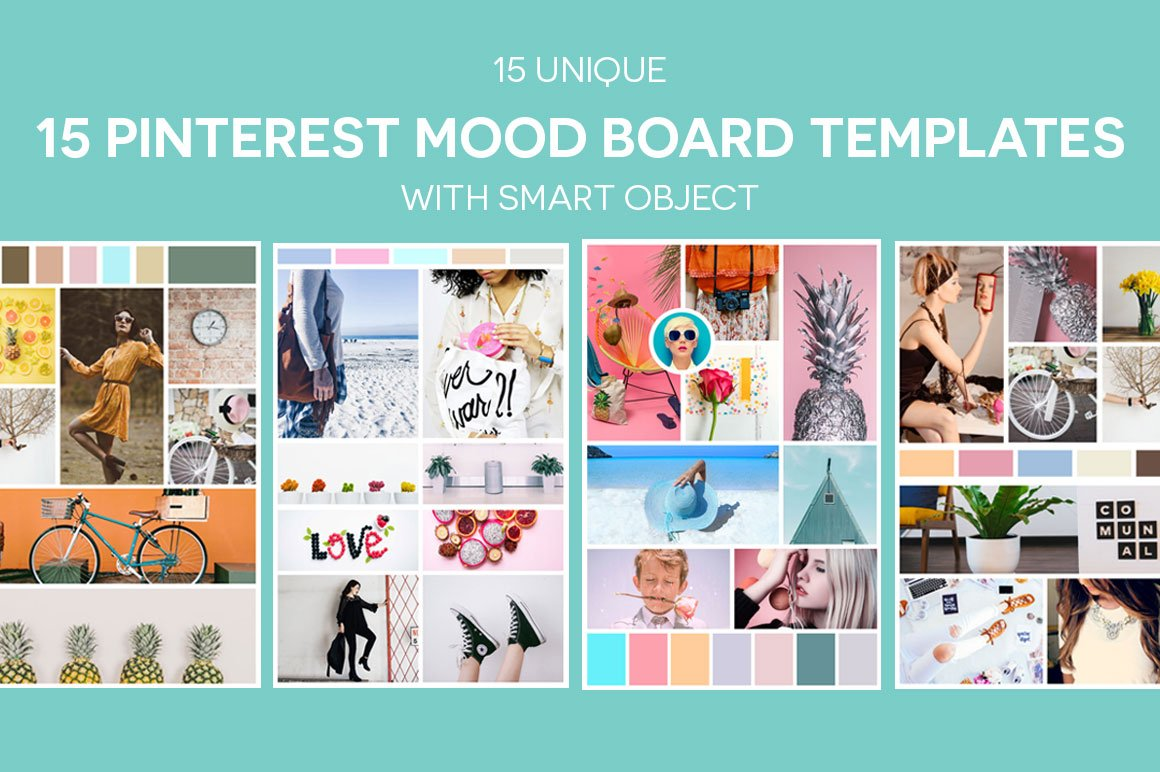 fashion mood board template - 15 pinterest mood board templates v2 pinterest templates