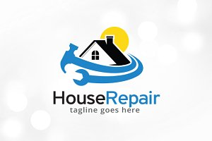 House Repair Logo Template Design