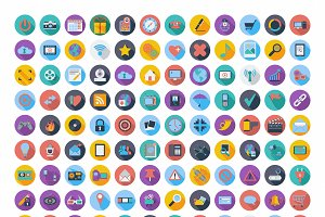 121 Social media and network icons.