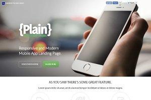 Plain Bootstrap Theme