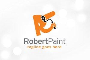 Letter R Paint Logo Template