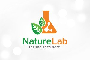 Nature Lab Logo Template Design