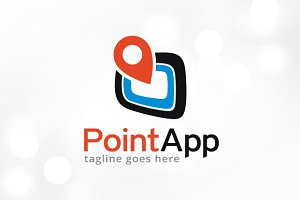 Point App Logo Template Design