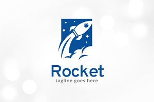 Rocket Logo Template Design